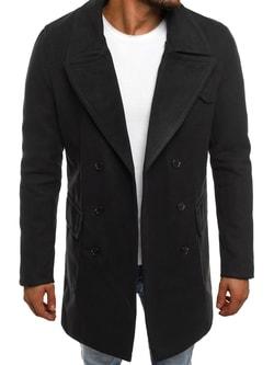 Čierny pánsky kabát J.BOYZ 1048