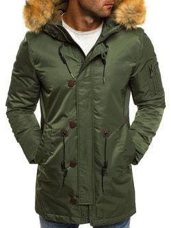 Zimná trendy zelená bunda J.BOYZ 1049 - L