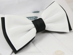 Bielo-čierny pánsky elegantný motýlik