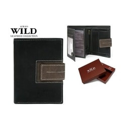 Nevšedná čierna peňaženka ALWAYS WILD