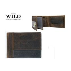 Módna hnedo-sivá peňaženka pre pánov