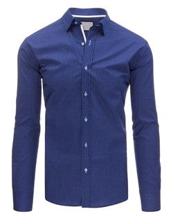 Granátová vzorovaná SLIM FIT košeľa pre pánov