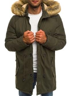 Khaki zimná pánska bunda AK-CLUB YL003