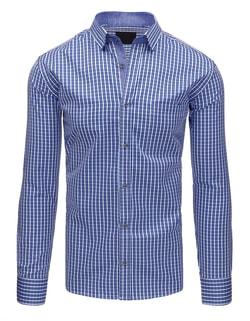 Bielo-modrá kockovaná SLIM FIT košeľa