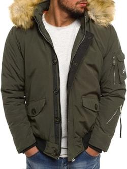 Zelená zimná bunda s kapucňou X-FEEL 88660 - XXL