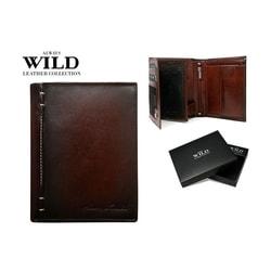 Elegantná hnedá kožená peňaženka