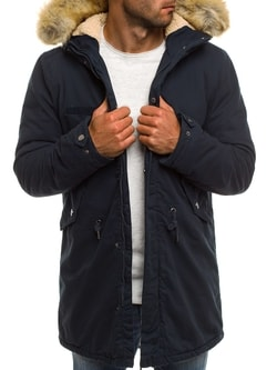 Granátová zimná pánska bunda AK-CLUB YL002