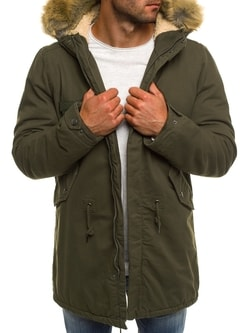 Khaki zimná pánska bunda AK-CLUB YL002 - XXL
