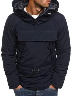 Granátová zimná bunda s klokaním vreckom J.STYLE AK166