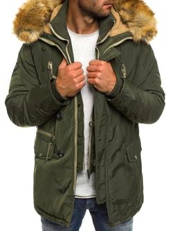 Zimná khaki pánska bunda J.BOYZ X1045K