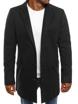 Čierny pánsky kabát J.BOYZ 1047