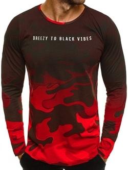 Nápadité červené army tričko BREEZY 171336 - XXL