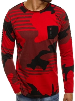 Výrazné červené tričko s maskáčom BREEZY 171405 - XXL