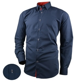 Granátová pánska košeľa s drobnými bodkami V267 - XL