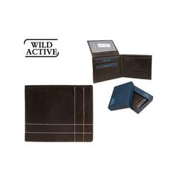 Jedinečná hnedá prešívaná peňaženka WILD ACTIVE fa0f8dc9012