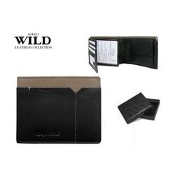 Nevšedná čierno-sivá peňaženka ALWAYS WILD