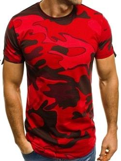 Červené maskáčové tričko BREEZY 181121 - XXL