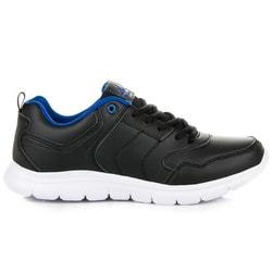 Pánske športové tenisky čierne s modrým doplnkom