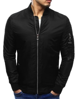 Čierna bomber pánska bunda s visačkou - M