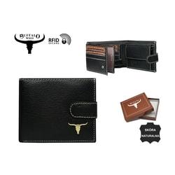 90de5a2343 Moderná čierna pánska peňaženka Buffalo Wild