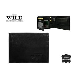 Jednoduchá a praktická čierna pánska peňaženka