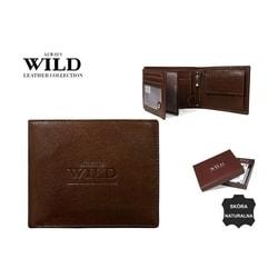 Hnedá dizajnová pánska peňaženka