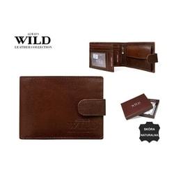 Hnedá pánska peňaženka s prackou