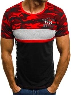 Červené kombinované tričko JS/5026 - XXL
