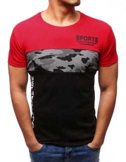 Červené tričko v módnom dizajne - XXL