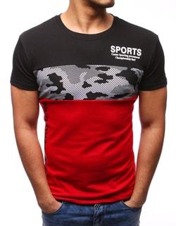 Moderné čierne tričko SPORTS - L