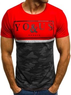Červené tričko You&Us JS/5021T - XXL