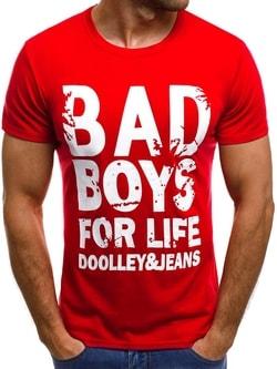 Červené tričko BAD BOYS JS/5013 - XL