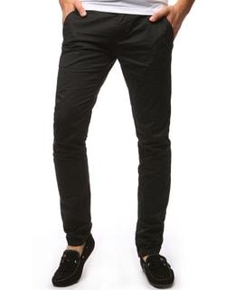 Módne čierne chinos nohavice