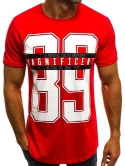 Zaujímavé červené tričko 89 B/181600 - XXL
