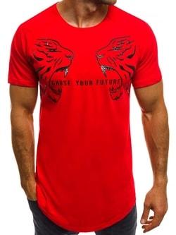 """""""Choose your future"""" pánske červené tričko B/181599 - XXL"""