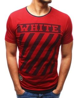 WHITE červené pánske tričko - XL