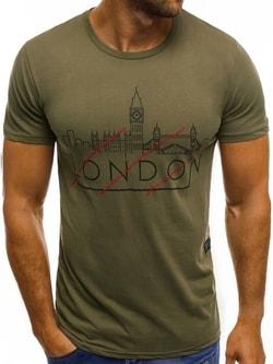 LONDON PANORAMA khaki tričko MECH/2087 - XL