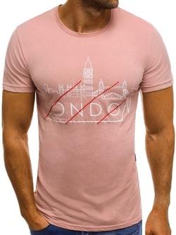 LONDON PANORAMA ružové tričko MECH/2087 - XL