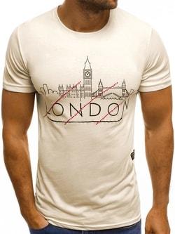 LONDON PANORAMA béžové tričko MECH/2087 - XL