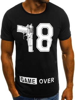 9cf73d8c7d2e Pánske čierne tričko