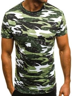 Módne maskáčové tričko ZELENÉ OZONEE JS/SS231 - M