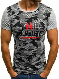 UNLIMITED pánske sivé tričko JS/5022 - XL