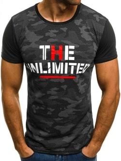 UNLIMITED pánske čierne tričko JS/5022 - XL