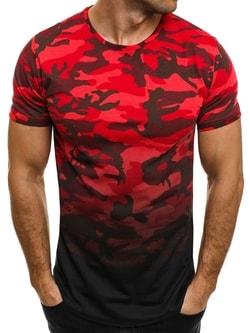 Červené moderné tričko BREEZY 525BT - XL