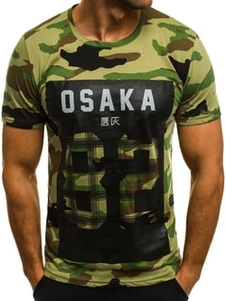 Štýlové maskáčové zelené tričko OZONEE MECH/2094