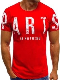 Červené módne tričko O/1180 - XL