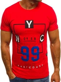 Červené tričko OZONEE MECH/2088T - XL