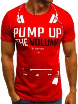 Červené tričko VOLUME O/1171 MADMEXT - XXL