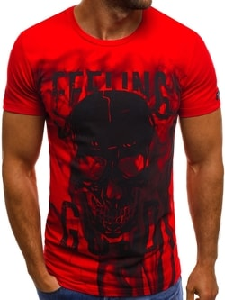 Červené tričko OZONEE MECH/2074T - XL