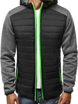 Pánska štýlová bunda čierna J.STYLE TY05 - L